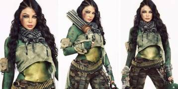 لماذا تحمل هيفاء وهبي دائماً سلاحاً نارياً في حقيبتها؟؟