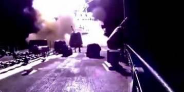 بالفيديو.. لحظة انطلاق الصواريخ الأميركية باتجاه سوريا