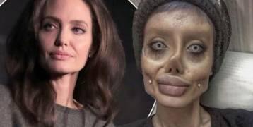 بالصور – مفاجأة شبيهة أنجلينا جولي الايرانية تكشف عن وجهها الحقيقي!