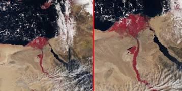 ما السر وراء ظهور نهر النيل باللون الأحمر؟