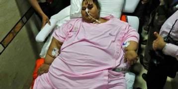 بالصور.. أسمن امرأة بالعالم تواصل علاجها في أبوظبي