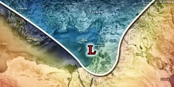 مناخ : منخفض جوي عميق وعاصفة شتوية تضرب بلاد الشام الجمعة 5/1/2018