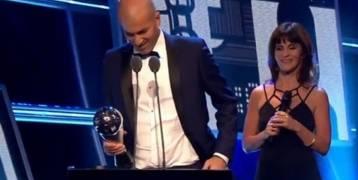زيدان يتوج بجائزة أفضل مدرب في العالم