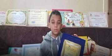 طفل مصري ولد كفيفا وأتم حفظ القرآن الكريم في السابعة