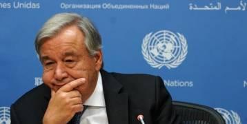 الأمين العام للأمم المتحدة قلق