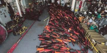 صور: شحنة ضخمة من الأسلحة الإيرانية لصالح الحوثيين