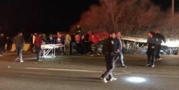 مقتل  شابين من الناصرة بحادث طرق