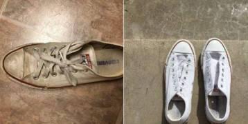 حيلة لتنظيف الأحذية تجتاح الإنترنت !!