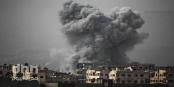 الأحتلال يشن غارة على سوريا مقتل 9 عناصر من القوات الايرانية في الغارة