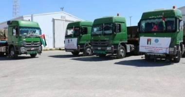 وصول قافلة مساعدات أردنية إلى غزة
