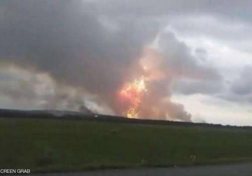 انفجارات تهز مستودع أسلحة في روسيا وإجلاء آلاف السكان