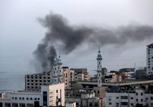 ارتقاء خمسة شهداء بقصف اسرائيلي على غزة
