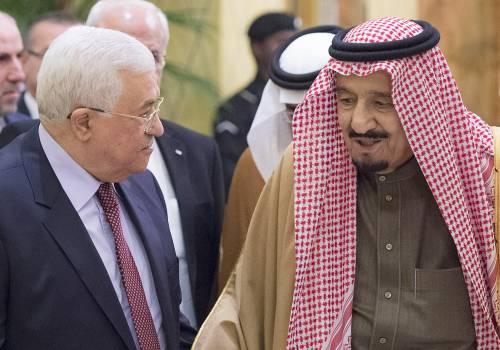 الزعيم الفلسطيني : يثمن تصريحات الملك سلمان حول قضية فلسطين