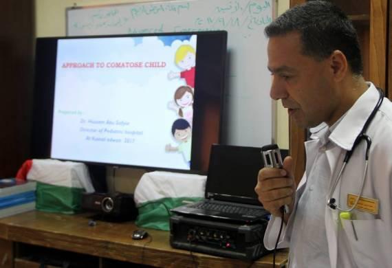 مجمع عدوان ينظم سلسلة محاضرات علمية لأطباء الأطفال