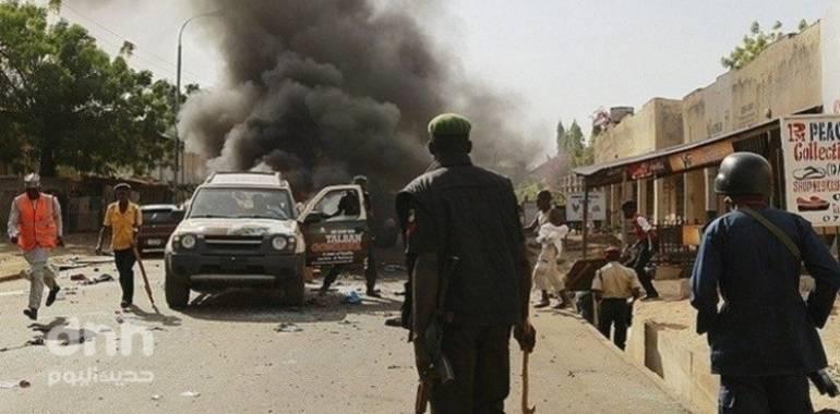 مصرع  16 شخصاً في سلسلة تفجيرات انتحارية بنيجيريا